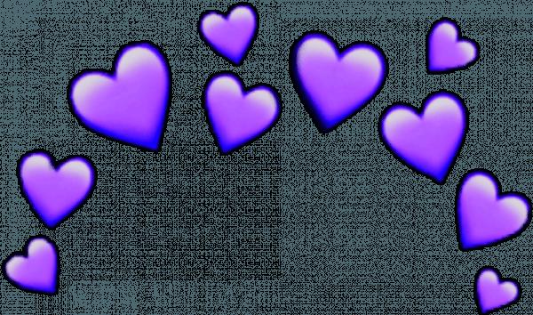Purple heart emoji transparent. Download crown heartcrown iphone | Didascalie, Fai da te