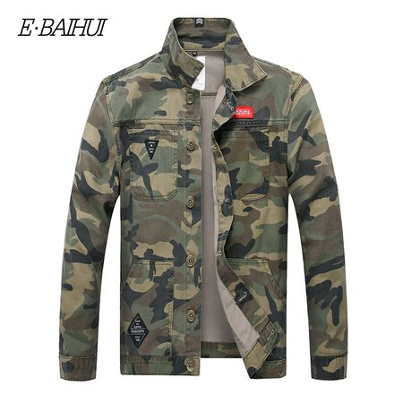 E BAIHUI Men Camouflage Denim Jacket Slim Fit Camo Jean Jackets For Man Trucker Jackets Outerwear coat Size S 4XL Turn Down 2025-in Jackets from Men's Clothing on AliExpress