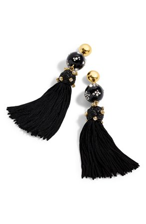 J.Crew Crystal Studded Bead & Tassel Earrings | Nordstrom