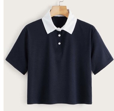Blue and White Collared Shirt
