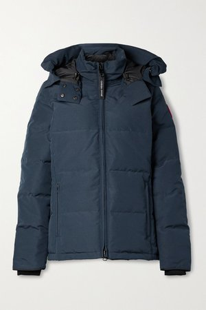 Chelsea Hooded Quilted Shell Down Jacket - Navy