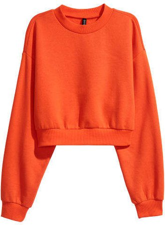 Mock Turtleneck Sweatshirt - Orange