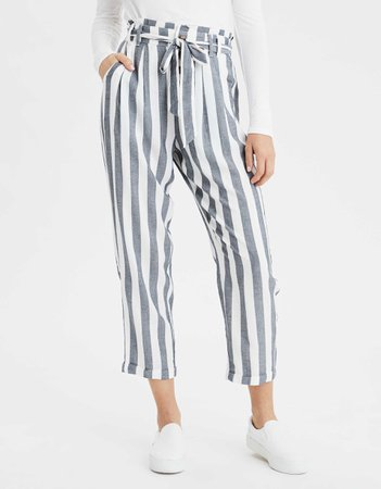 AE High-Waisted Paperbag Tapered Pant (blue)