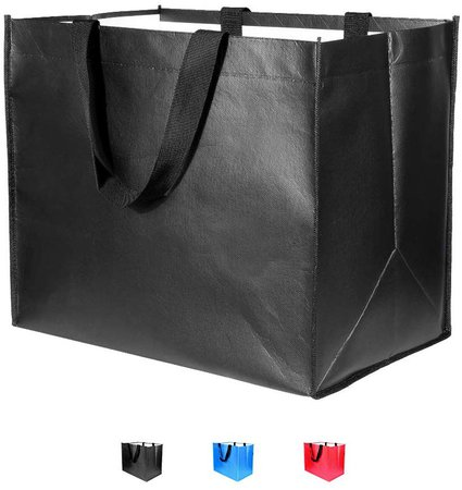 Amazon.com: Large Foldable Reusable Grocery Bags 3 Pack Heavy Duty, Hold 50 lbs, Durable Shopping Tote Bags Foldable, Washable&Eco-Friendly, 3 Colors: Kitchen & Dining