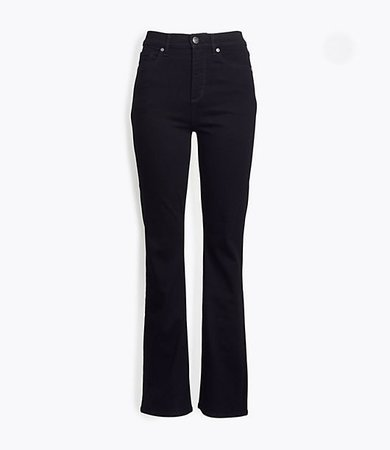 Tall Slim Flare Jeans in Washed Black Wash