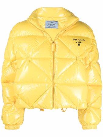 Prada high-shine puffer jacket - FARFETCH
