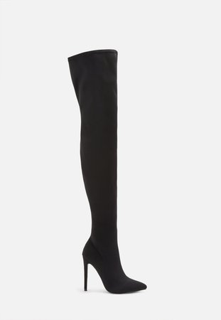 Black Stiletto Over The Knee Boots | Missguided