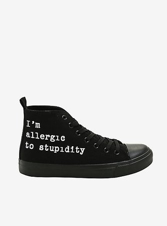 Allergic To Stupidity Hi-Top Sneakers