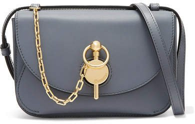 Keyts Small Leather Shoulder Bag - Gray