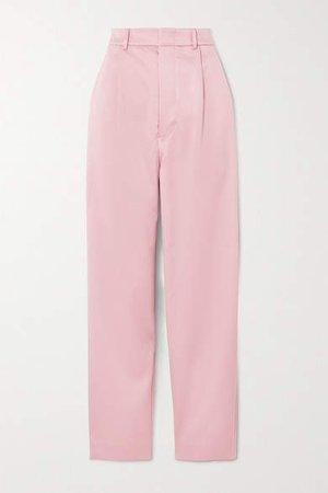 Munthe MUNTHE - Elsie Satin Straight-leg Pants - Pastel pink