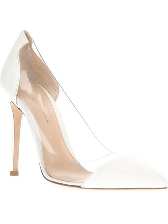 Gianvito Rossi White Perspex Pumps Heels