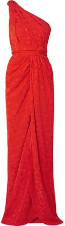 Brandon Maxwell - One-shoulder Jacquard Gown - Red