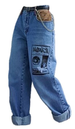 baggy jeans with chain