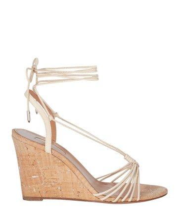 Aquazzura Whisper 85 Cork Wedge Sandals | INTERMIX®