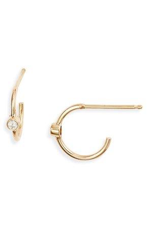 Zoë Chicco Diamond Huggie Hoop Earrings | Nordstrom