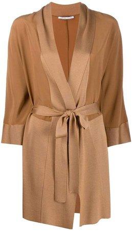 wrap midi coat