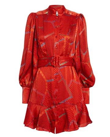 Alexis   Lishan Printed Mini Dress   INTERMIX®