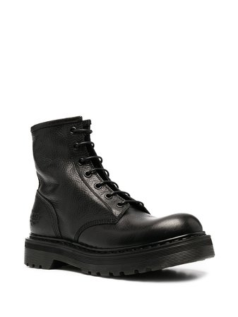 Premiata leather lace-up ankle boots - FARFETCH
