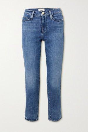 Le Nouveau Mid-rise Straight-leg Jeans - Blue