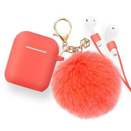 red airpods case with pompom - Google Search