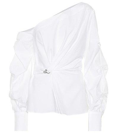 Asymmetric cotton blouse