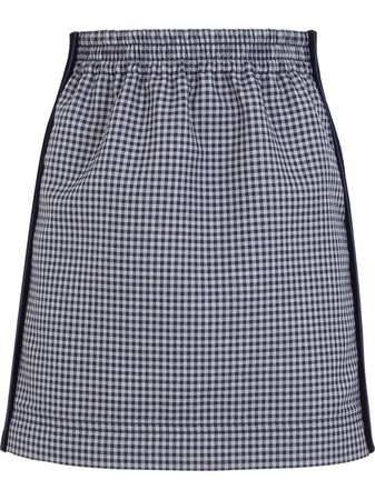Fendi Gingham Pencil Skirt - Farfetch