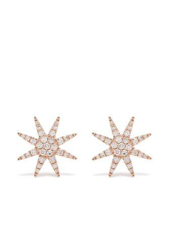Djula 18kt Rose Gold Diamond Sun Stud Earrings - Farfetch