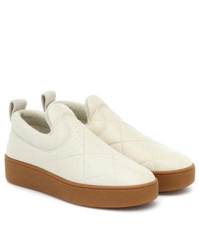 Slip On Leather Sneakers - Bottega Veneta | Mytheresa