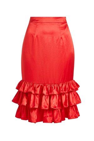 Billi Mac Satin Skirt Gr. UK 10