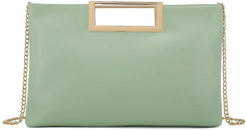 Charming Tailor Fashion PU Leather Handbag Stylish Women Convertible Clutch Purse (Mint): Handbags: Amazon.com