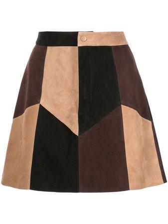Alice+Olivia Georgine Suede Mini Skirt - Farfetch