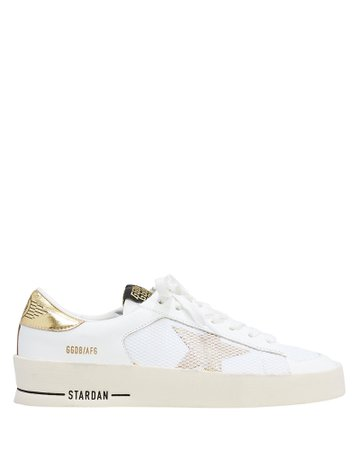 Golden Goose | Star Dan White Leather Sneakers
