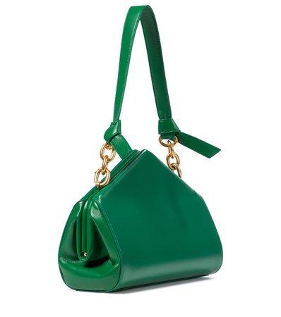Bottega Veneta - Leather shoulder bag   Mytheresa