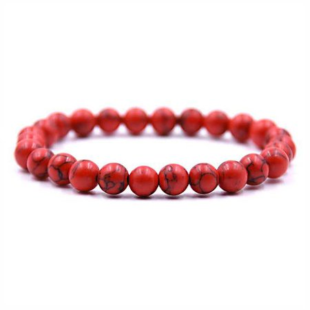 Red/Black Beaded Bracelet