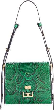 Medium Eden Genuine Python Shoulder Bag