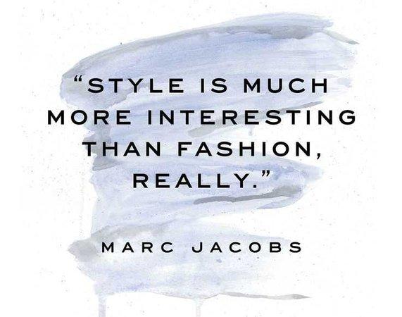 blue fashion quote
