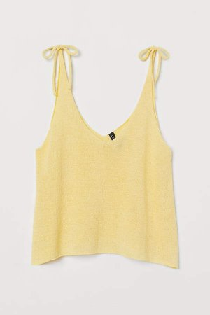 Knit Camisole Top - Yellow