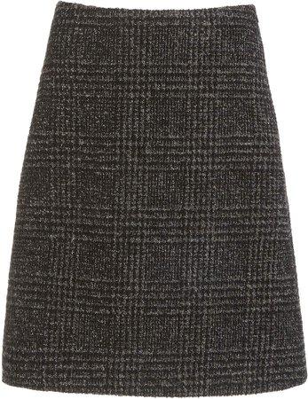 Proenza Schouler Wool Plaid Skirt
