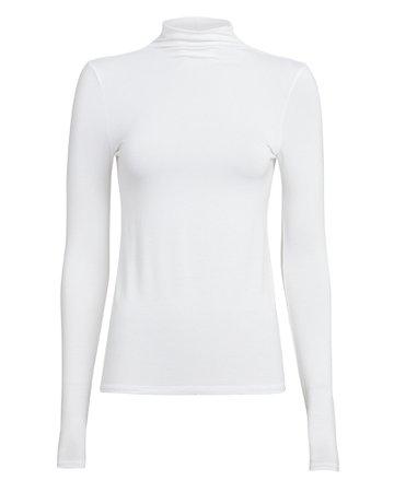 Enza Costa | Turtleneck Jersey Knit Top | INTERMIX®