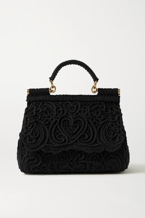 Sicily Crocheted Tote - Black