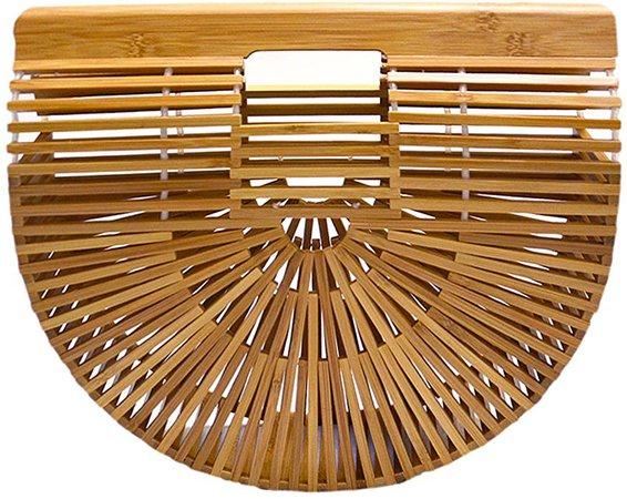 Amazon.com: Miuco Womens Bamboo Handbag Handmade Large Tote Bag: Shoes