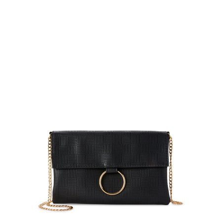Metallic Sky - Metallic Sky O Ring Envelope Crossbody - Walmart.com black