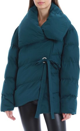 Water Resistant Wrap Puffer Coat