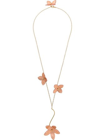 Shop pink Marni flower pendant necklace with Express Delivery - Farfetch