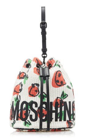 Strawberry-Print Shopping Bag by Moschino   Moda Operandi