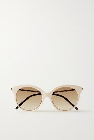 Gucci | Round-frame acetate and gold-tone sunglasses | NET-A-PORTER.COM