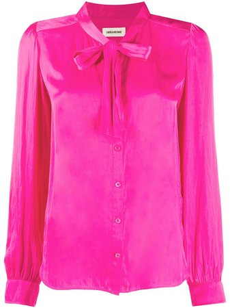 Shop pink Zadig&Voltaire Taos satin blouse with Express Delivery - Farfetch