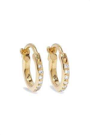 Ileana Makri | 18-karat gold diamond hoop earrings | NET-A-PORTER.COM
