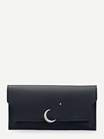 Star & Moon Flap Wallet