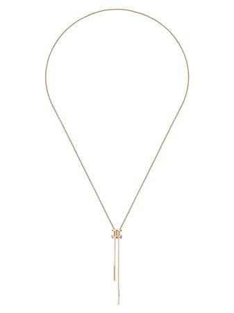 Gold De Beers 18kt rose gold diamond Horizon necklace - Farfetch